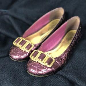 ShoeDazzle Purple Flats. EUC